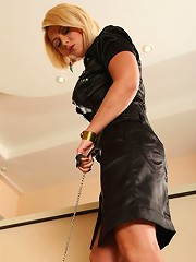 Doggy boy lives through an extended humiliation session and gets trampled