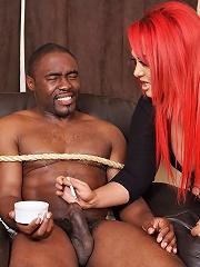 Mistress Jemstone punishes tart Retro by fisting his asshole