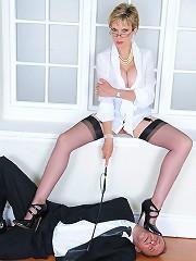 Stiletto leg mistress